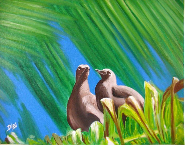 oiseaux huiles Tahiti dans TAHITI