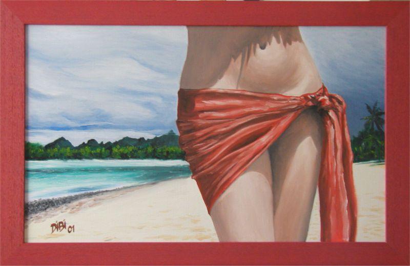 pareo peintures Tahiti