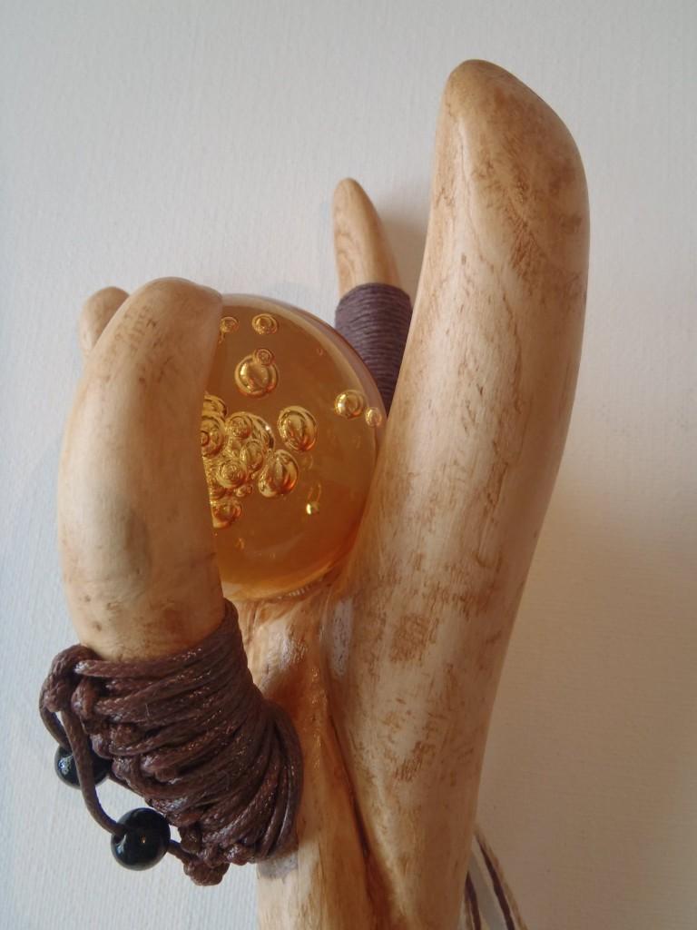 boule-verre1 bâton de marche en bois